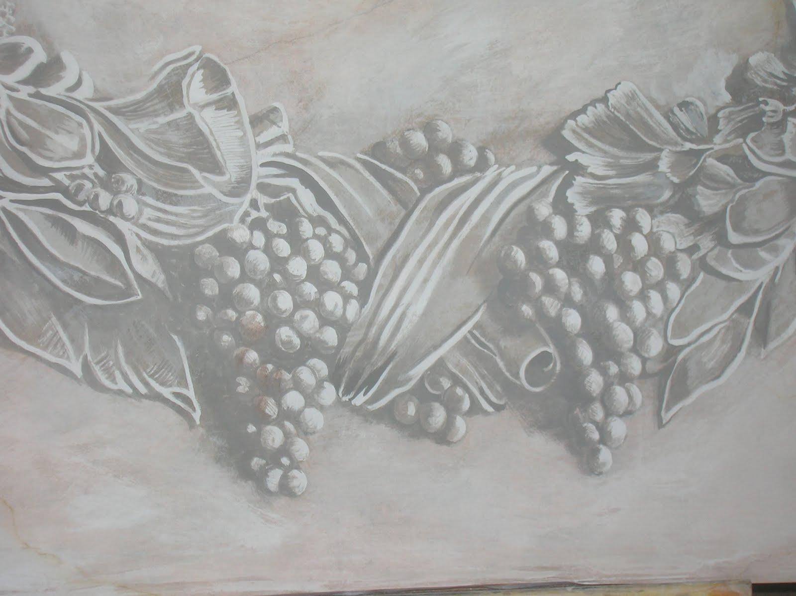 Bagni con top in legno - Decori in gesso ...