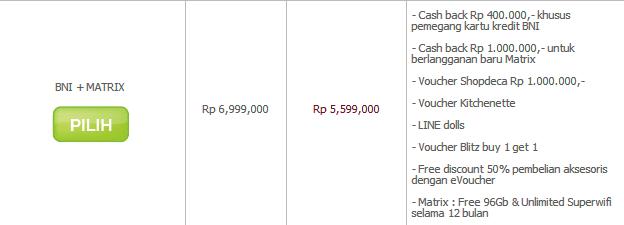 LG G3 Preorder paket BNI dengan MATRIX di Erafone