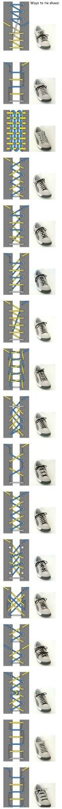 Distintas formas de atarse los cordones