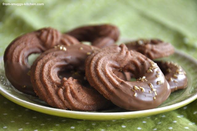 Schokoladen-Spritzgebäck