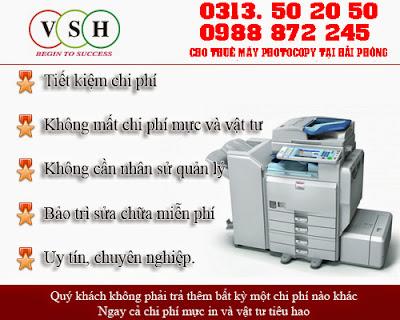 Cho thuê máy photocopy ở Hải Phòng