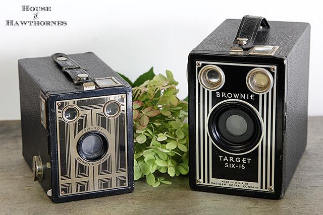 Vintage Kodak Brownie cameras @ houseofhawthornes.com