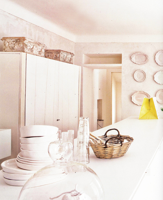 White kitchen inspiration with a subtle country vibe.