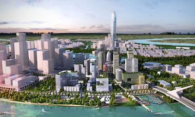 Phối cảnh tòa tháp cao nhất Việt Nam.