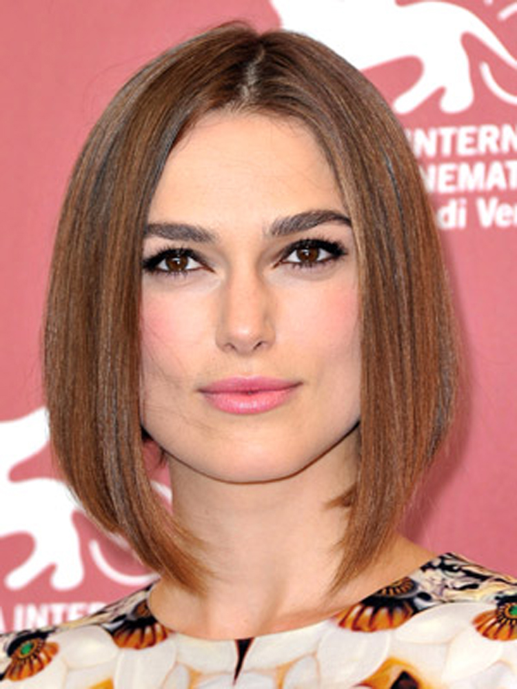Keira Knightley Fresh Brunette Hairstyles