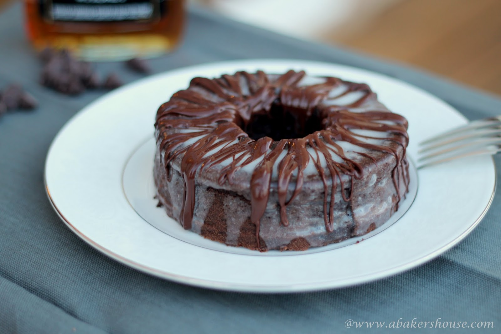 Chocolate Bourbon Mini Bundt #BundtaMonth
