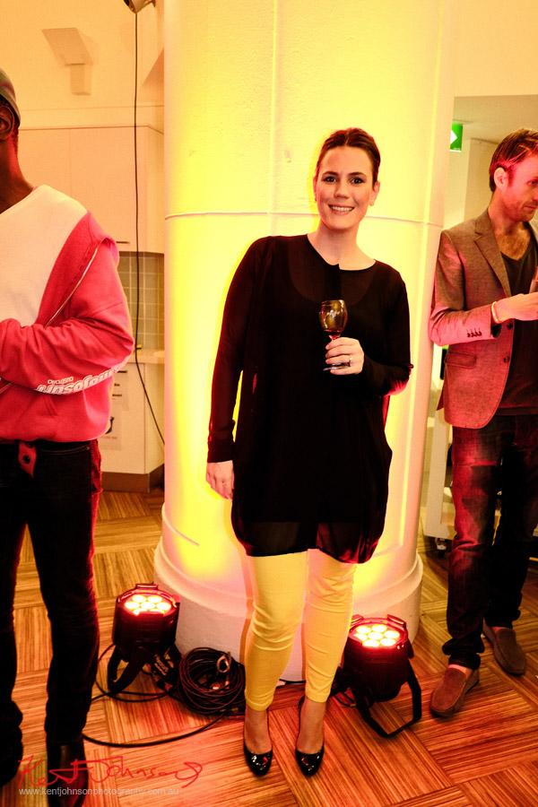 Street Fashion, black top yellow jeans, 'Yellow Lounge' Street Fashion Sydney