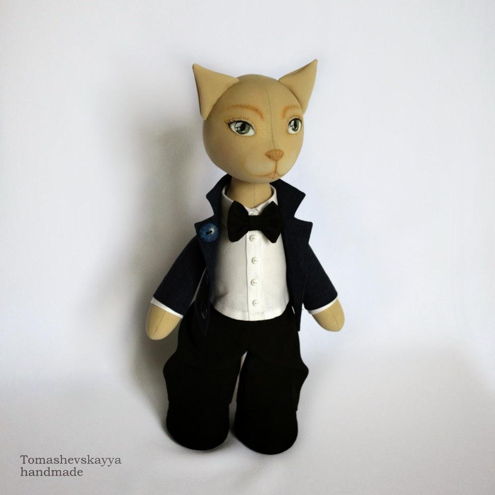 Текстильная интерьерная игрушка кот. Челябинск