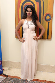 Pavani Reddy looks awesome in beautiful Peach Sleeveless Jumpsuit Gown