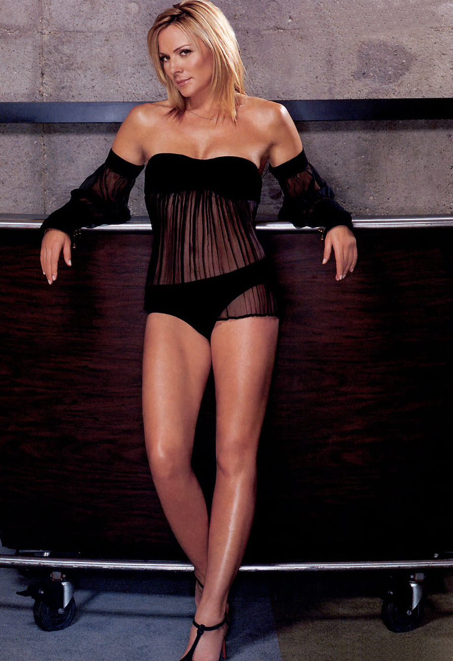 Kim Cattrall new and sexy body wallpapers - Blue Image