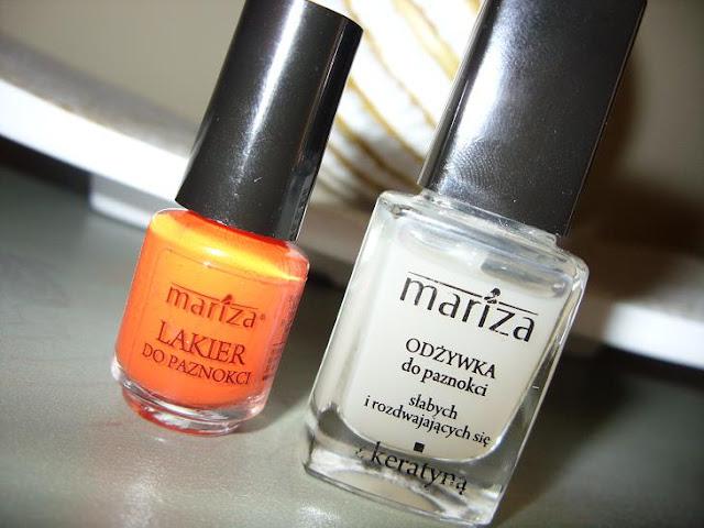 Recenzja: Mini Lakiery do paznokci i Odżywka do paznokci słabych i rozdwajających się z keratyną, Mariza