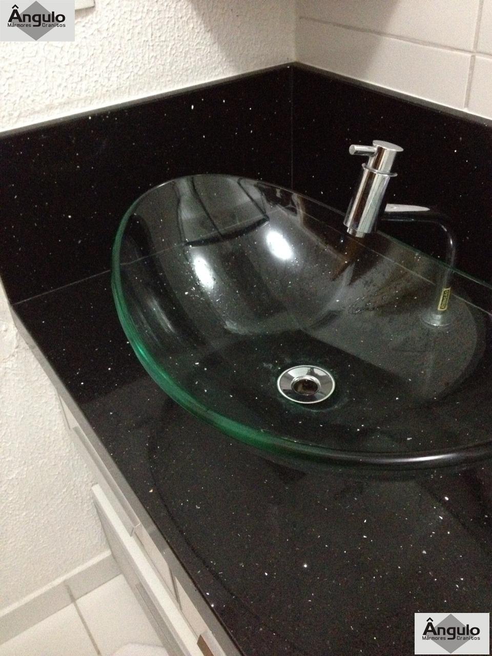 Ângulo Mármores e Granitos Banheiros -> Cuba De Vidro Para Banheiro Em Promocao