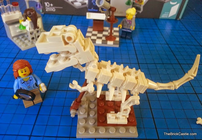 LEGO Ideas Research Institute set 21110 female paleontologist scientist