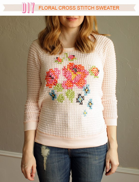 3aba6522035182 Ever since I made my heart cross stitch sweater I have been looking for  another way to implement cross stitching into apparel.