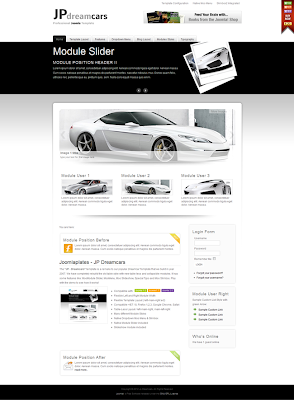 Dreamcars Joomla cars templates