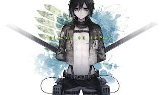 Attack on Titan Shingeki no Kyojin Mikasa Ackerman Anime Girl Swords HD Wallpaper Desktop Background