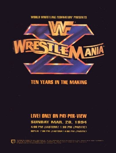 WWF/ WWE: Wrestlemania 10 - Event poster
