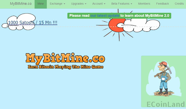 Earn Bitcoin playing the mine free game MyBitMine