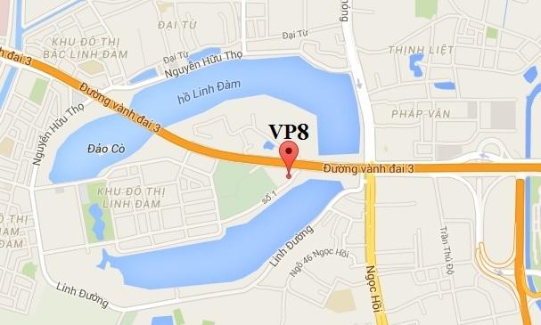 Vị trí dự án VP8 Linh Đàm