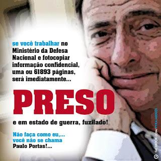 Paulo Portas impune soma crimes burlas  irresponsavel