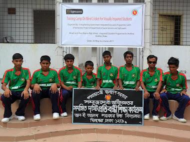 Jan - E - Alam High school Blind Cricket Team