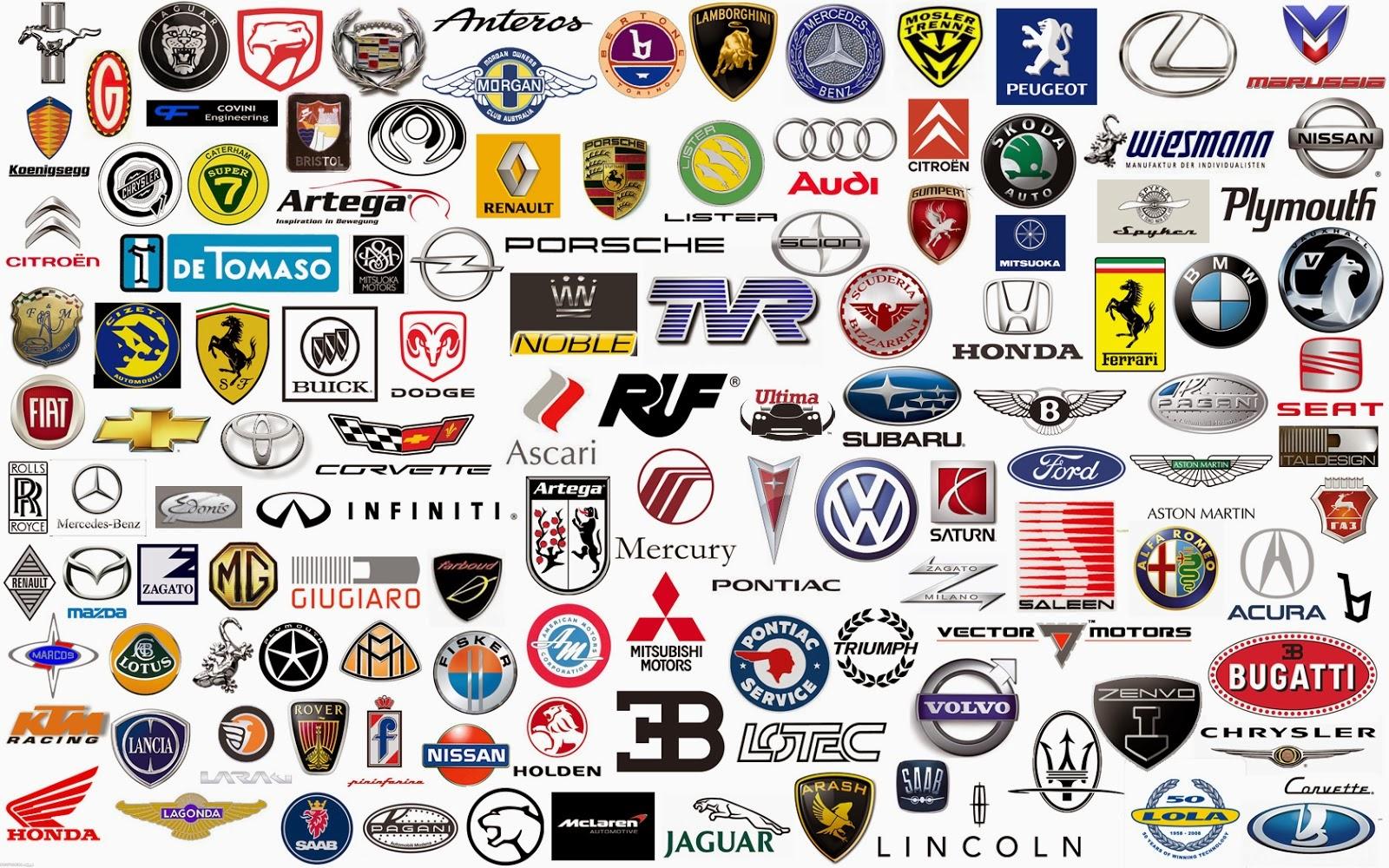 Famous car logos with names