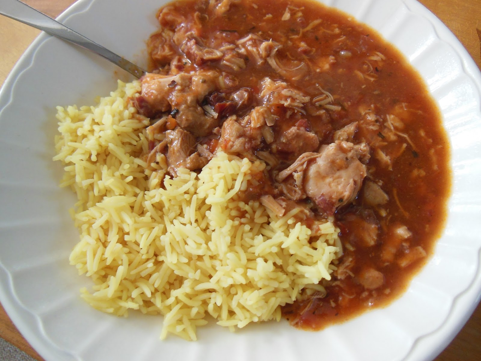 Ilumi pork, mushrooms and rice