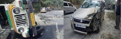 Sikkim Kalimpong vehicle collides at NH 10 Rambi