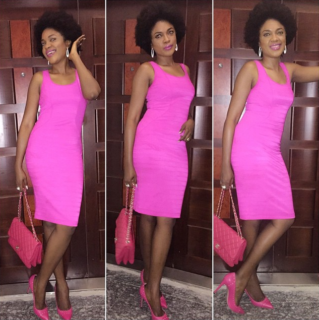 All Pink Everything: Who Wears What N Where: All Pink Everything :Omoni Oboli