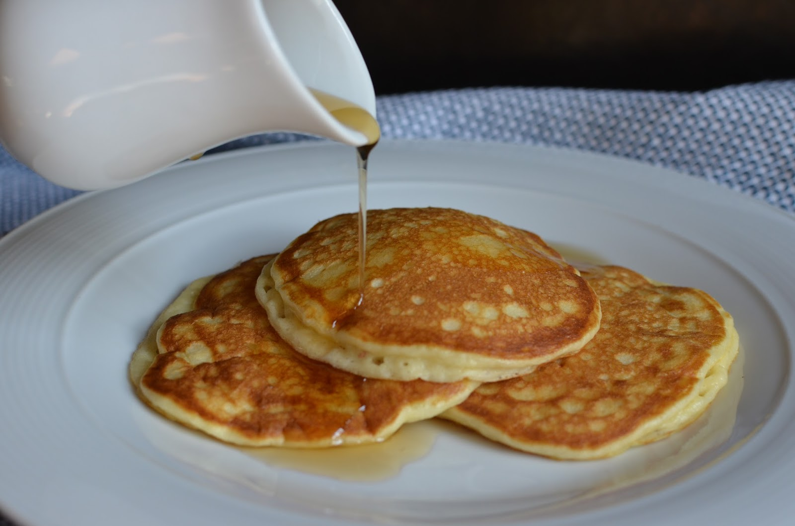 Playing with flour sour cream pancakes its truly amazing how rich heavy ingredients can make for the lightest result think whipped cream thats the case with these pancakes ccuart Choice Image