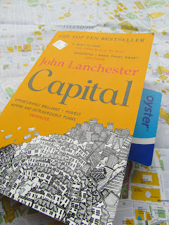 Captial, review, John Lanchester, Oyster card, map, paperback book, book cover, UK, England, read