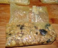 making simple dim sim recipe with dried bean curd sheet