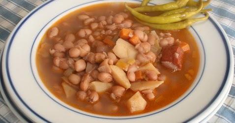 La cocina de deli comida tradicional alubias pintas con - Como cocinar alubias pintas ...