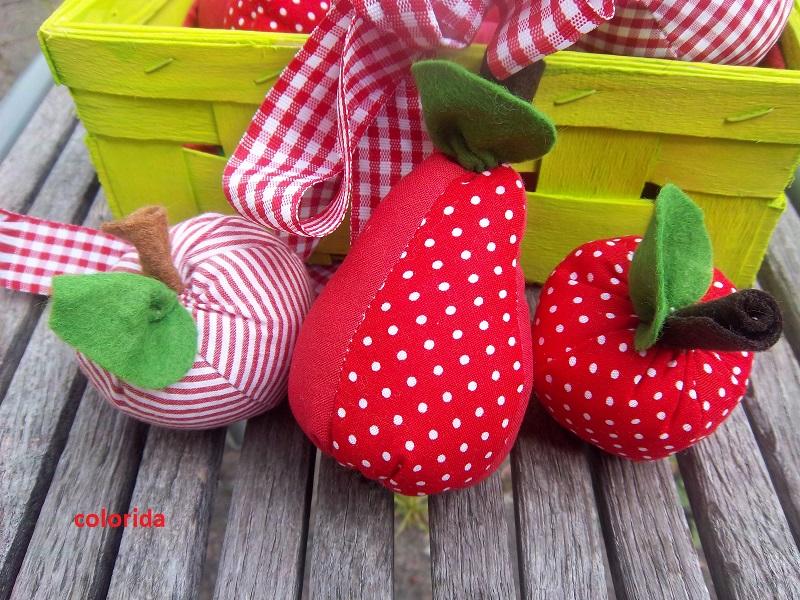 colorida: Birne und Äpfel - meine erste Herbstdeko