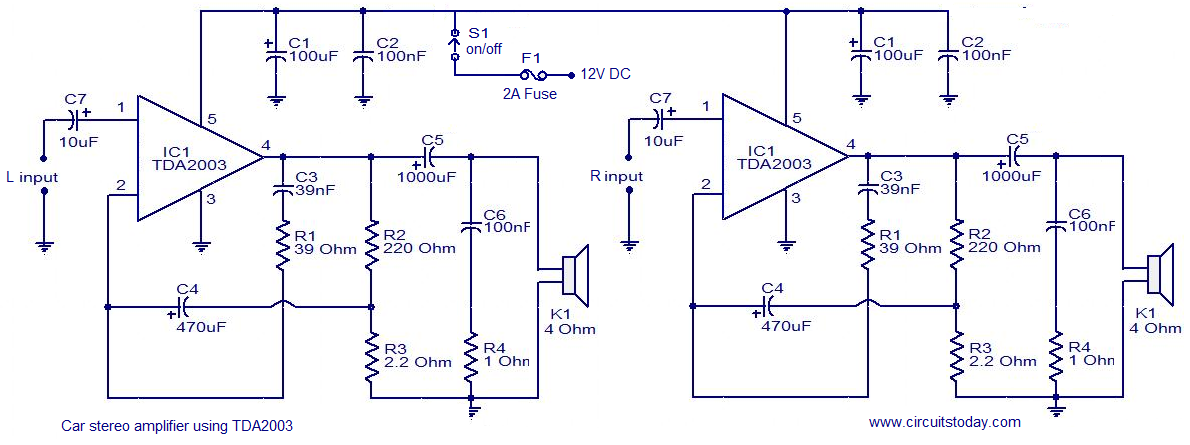 car amp circuit diagram wirdig car audio speaker wiring on 4 channel car amplifier wiring diagram
