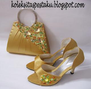 Tas Pesta Gold Cantik
