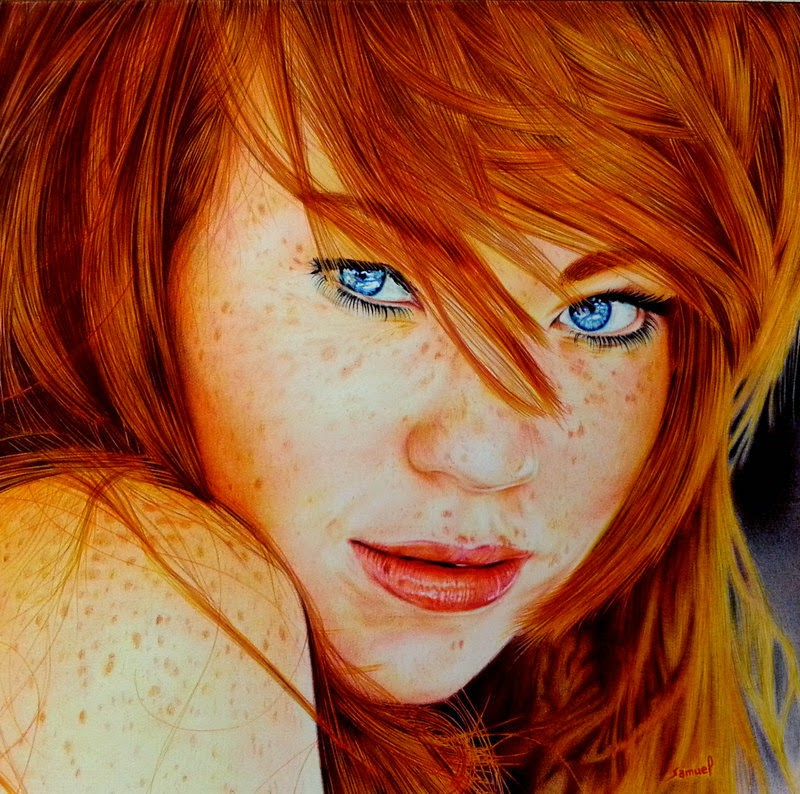 Cute Redhead Girl HD Wallpaper