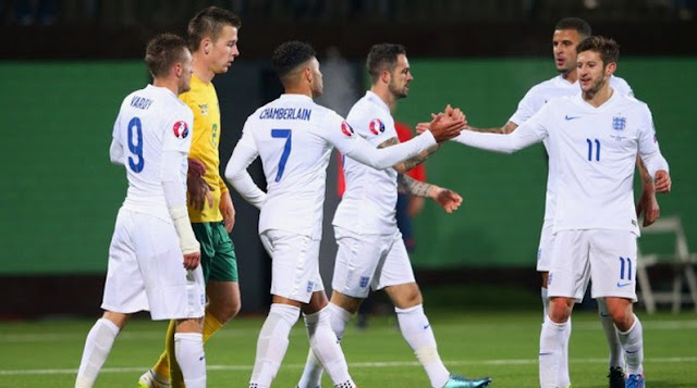 Lithuania vs England 0-3 Euro 2016 Qualifying France