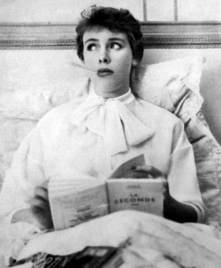 "1951 Vogue Paris ""Fashionably Sick in Bed"""