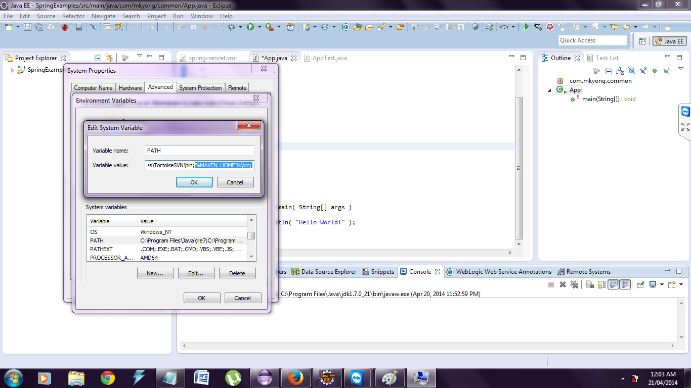 how to run maven project in eclipse oxygen