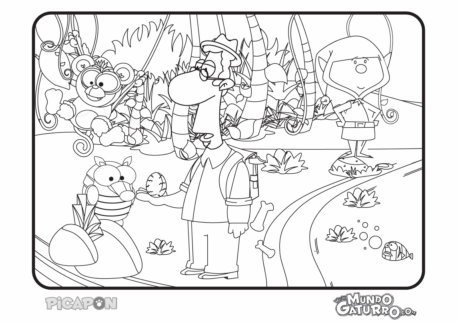 OnGaturro: Dibujos(Para Colorear)