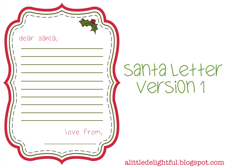 Letters to Santa Paper with Borders