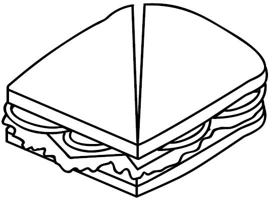 Dibujos de comida chatarra para colorear - Imagui