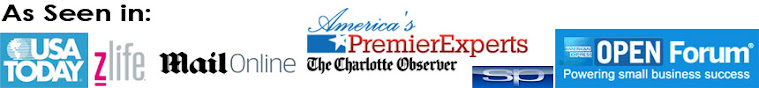 As Seen in AMEX Open forum, USA Today, The Charlotte Observer, America's Premier Experts, the Daily
