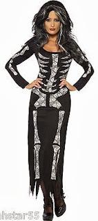 Plus Size Skeleton Dress Costume
