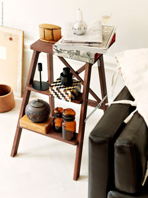 Marvelous Step Ladder As A Side Table Via Emmas