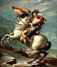 napoleon in a white horse