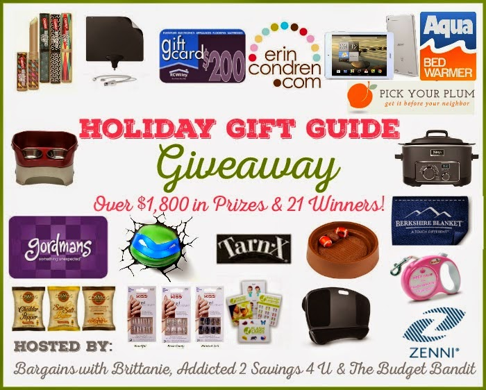 Huge Holiday Gift Guide Giveaway