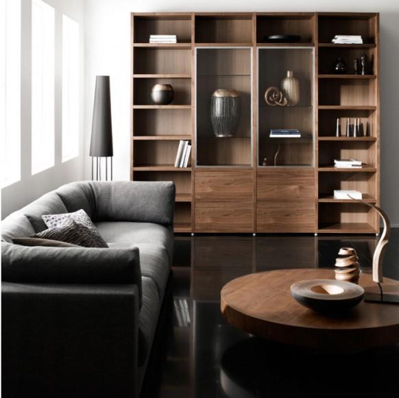 Diseño de Muebles con estilo para una Sala de Estar oscura por ...