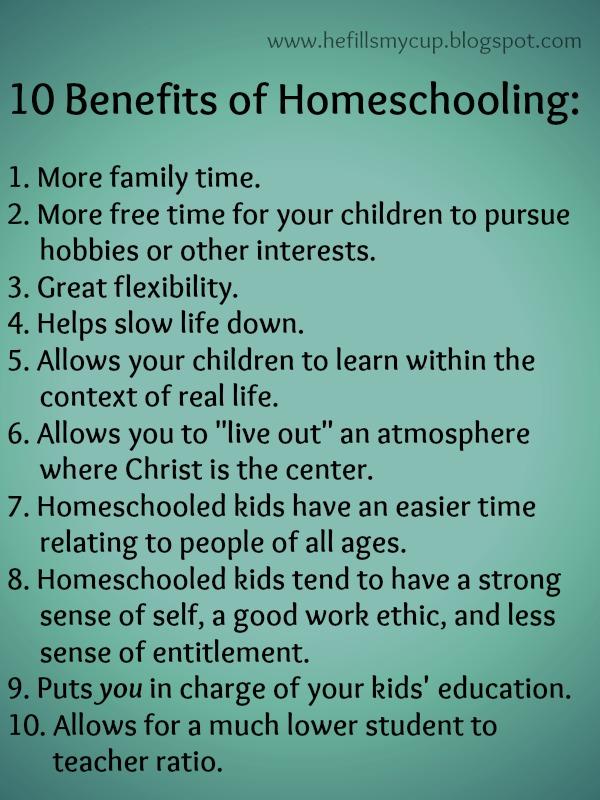 the benefits of homeschool education 2 Homeschool-lifecom - cenla christian home school association.
